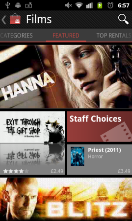 Films in Android Market