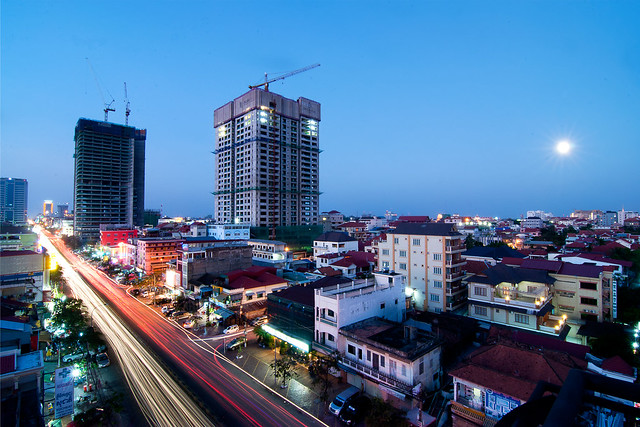 Phnom Penh Under Full Moon