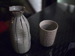Lukewarm water, Raku Japanese Restaurant & Bar, Greenwood Avenue