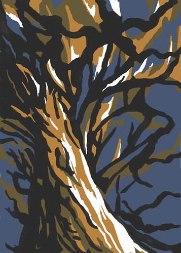 Tree sketch for next tiny print by Serendipity Artist