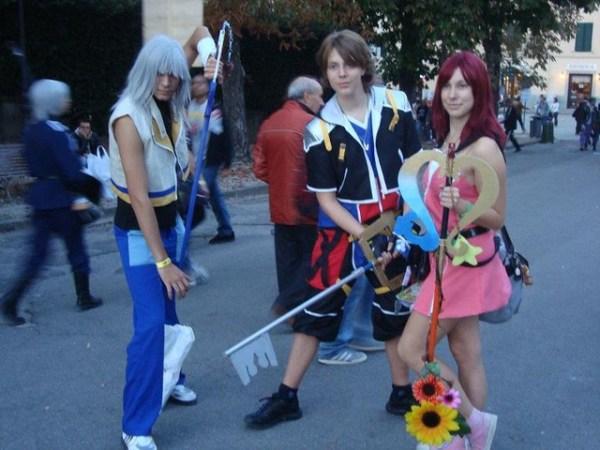 Riku, Sora, Kairi cosplay