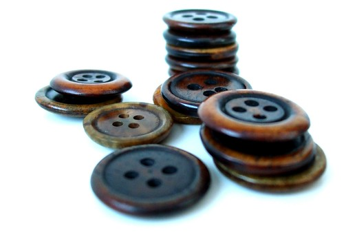 Gorgeous wooden buttons
