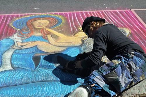Day 5 of the Chalk Festival in Sarasota, Fla., Nov. 5, 2011