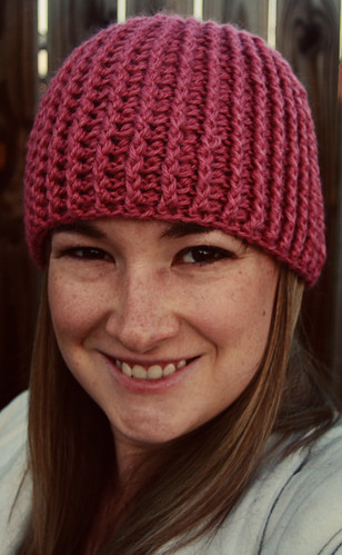 Knit Look Ribbed Hat