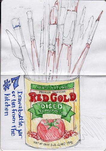 Sketchbook Project/EDM# 7 Draw a bottle, jar or tin