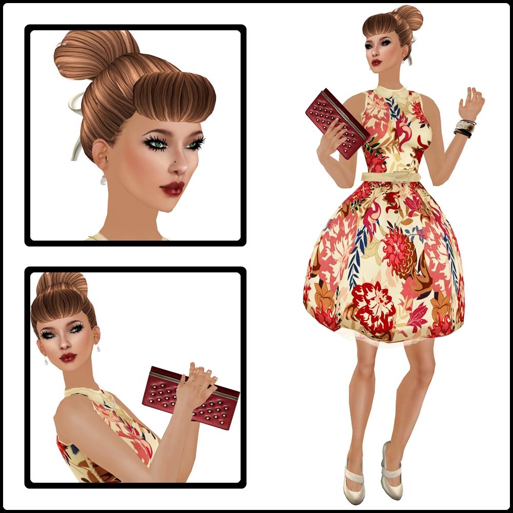 50s Party Dress Composite 2