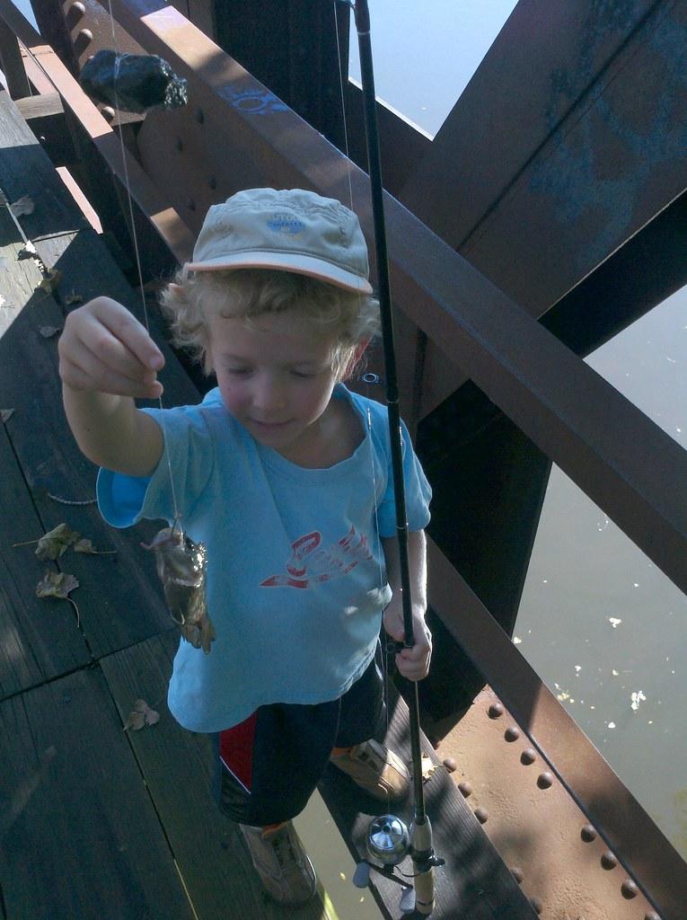 Reuben beholds his catch