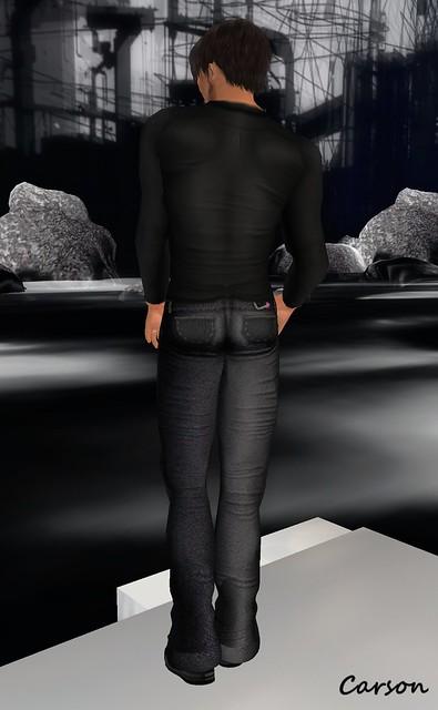 AB- Bob Chaemise Black Shirt, Black Booty Pants