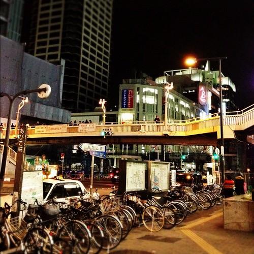 この歩道橋も、もうすぐ見納めかな? #night #iphonography #instagram #iphone4s
