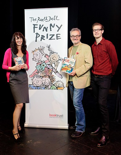 The Roald Dahl Funny Prize winners Liz Pichon, Peter Bently and Jim Field