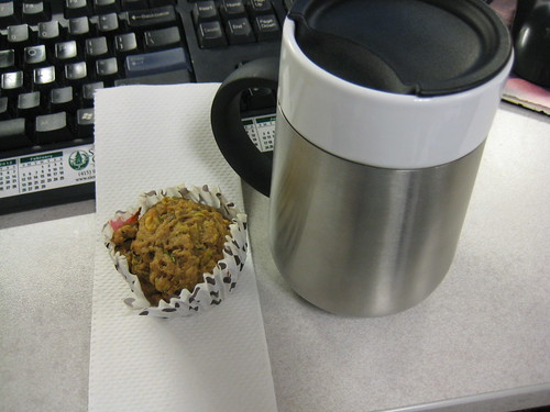 zucchini muffin and coffee