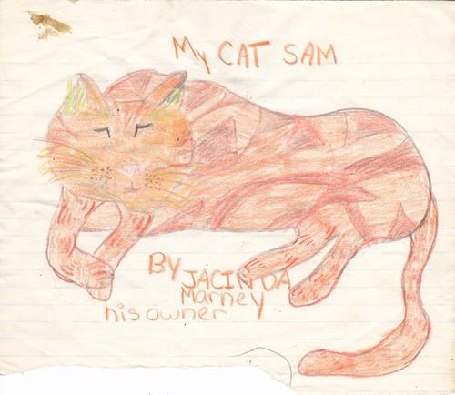 Jacinda's cat Sam