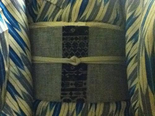 Blue and Gray Yabane Komon