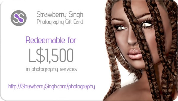 Strawberry Singh Photography - L$1,500 Gift Card