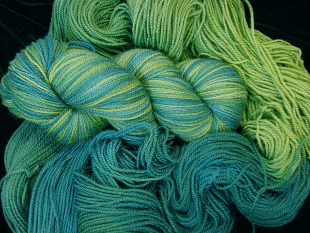 Lily Pads - Tiger Twist Hand Dyed Gradient Sock Yarn