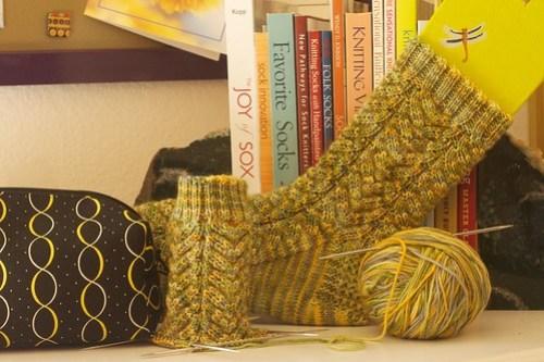 Corn Cob Socks: WIP