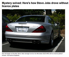 Mystery solved - Here's how Steve Jobs drove without licence plates