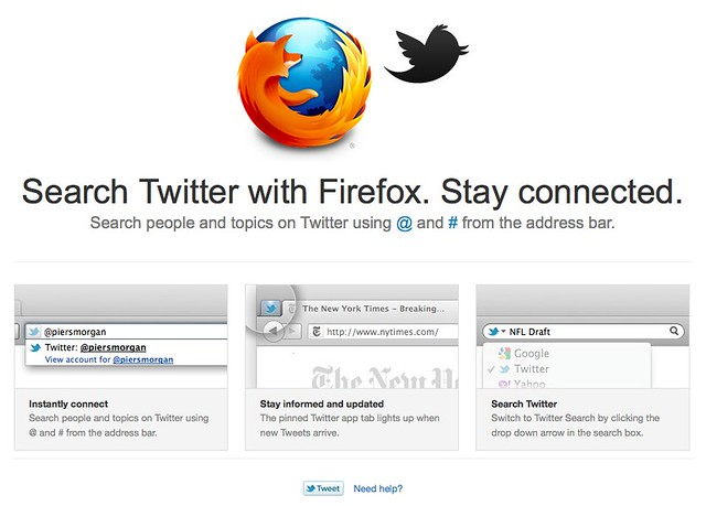 Twitter - Firefox integration