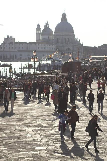 Sunshine on the Santa Maria della Salute church, Venice, Italy