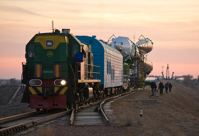 Expedition 29 Soyuz Rollout (201111110007HQ)