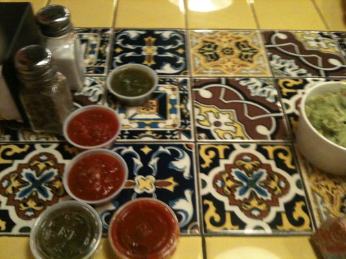 Tiled Table-colorful food
