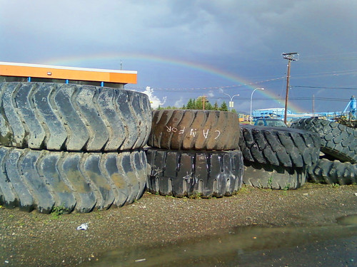 Rainbow Tire by Karyn Ellis