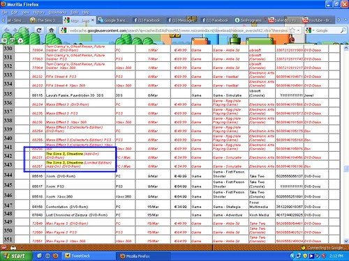 Dutch Retailer Micromedia list The Sims 3: Showtime!