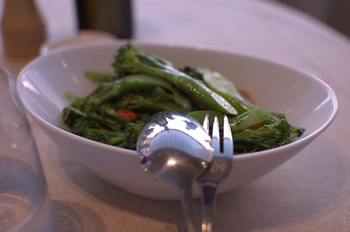 Broccolini, cherry tomatoes, chilli, garlic, parsley
