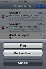 iOS 5 mail flagging