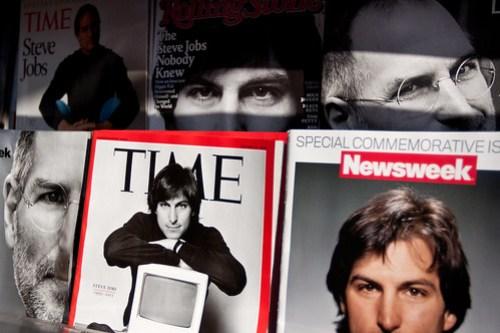 steve jobs magazine cover time portrait newsstand