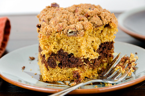 Pumpkin-Chocolate Coffee Cake