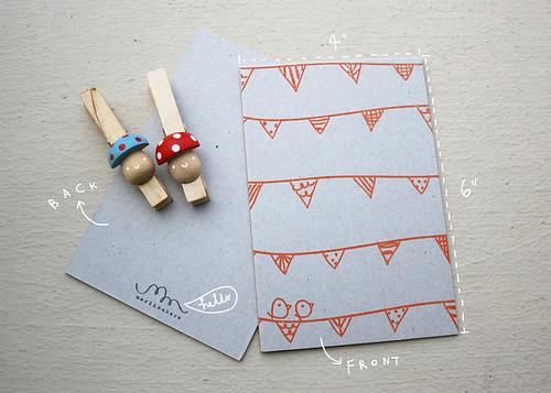 Notecards Buntings