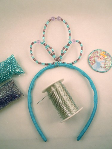 Princess tiara: bending wire in shape, attaching to headband