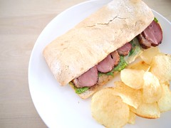 Roast duck sandwich,L'etoile Cafe, Owen Road, Little India