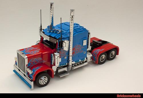 Optimus Prime in Lego by bricksonwheels