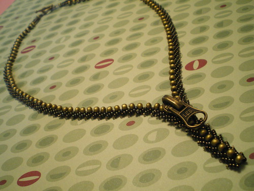 Unstuck Zipper Necklace