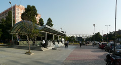 Jawaharlal Nehru Stadium Station Entrance