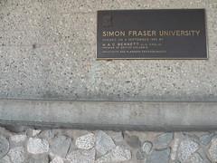Simon Fraser University plaque