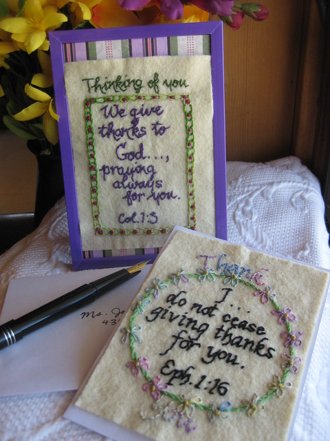 etsy greeting card and give thanks banner plus nine ladies 10-11 014