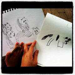 Sketching at the zoo with my girl! :-)