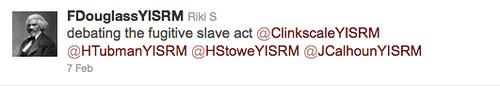 Fugitive Slave Act Tweet
