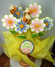 Summer Flower Cookie Bouquet