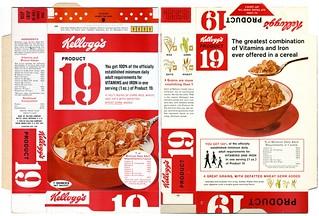1966 Product 19 Cereal Box