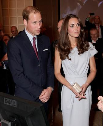 The Duke and Duchess of Cambridge get a demonstration of Tech City technology