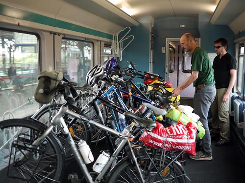 Bike carriage on a German train.