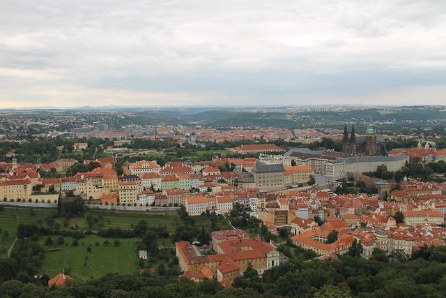 Hradčany depuis Petřin, Prague
