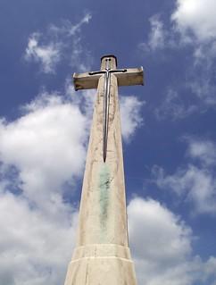 The Cross of Sacrifice, Hooge Crater Cemetery, Belgium