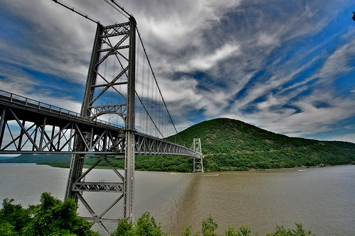 Bear Mountain Bridge HDR by Dave J Johnson