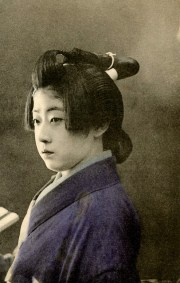 geisha dressed genroku style