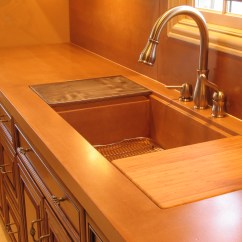 Kitchen Sinks With Drain Boards Remodel Budget Estimator Pan Cutting Board And Integral Sink Flickr Photo